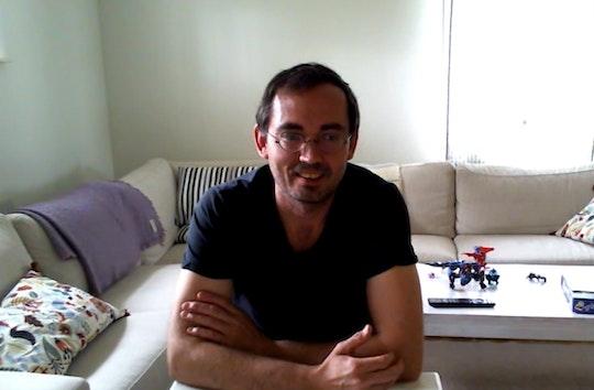Anders Johansson från sitt vardagsrum