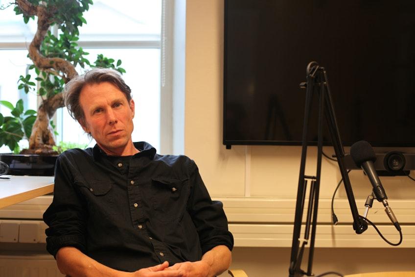 Professor Björn Sandén på sitt kontor på Chalmers.