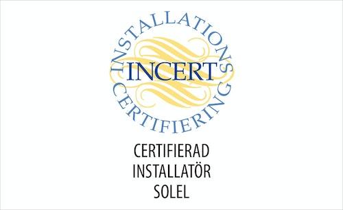 Symbol för Certifierad installatör solel