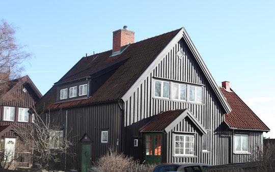 Ett hus med flera kombinationer av lutning och väderstreck där optimerare lämpar sig väl