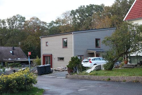 Familjen Krewers hus i Kållered med solceller på taket