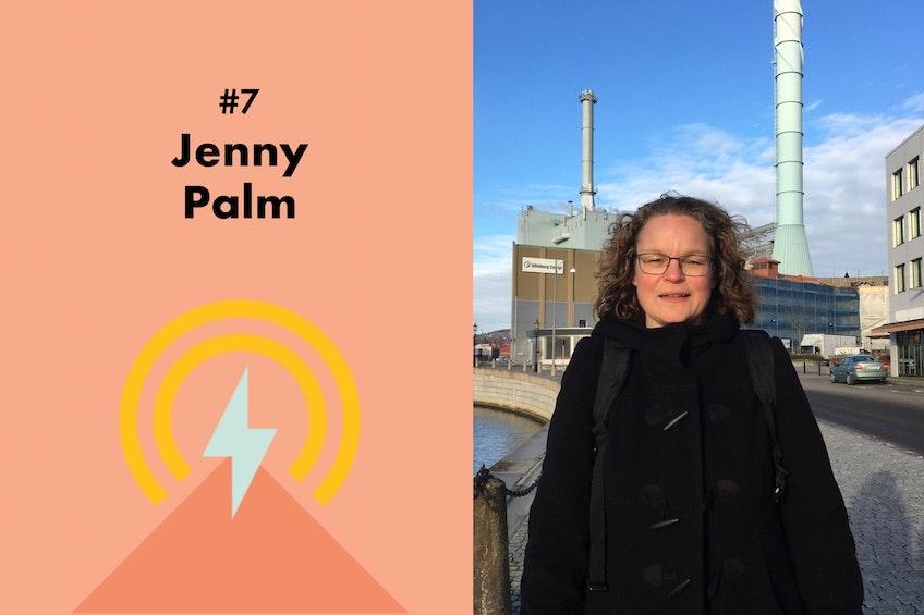 Jenny Palm, professor på Lunds Universitet, och den sjunde gästen i Solcellskollens podcast