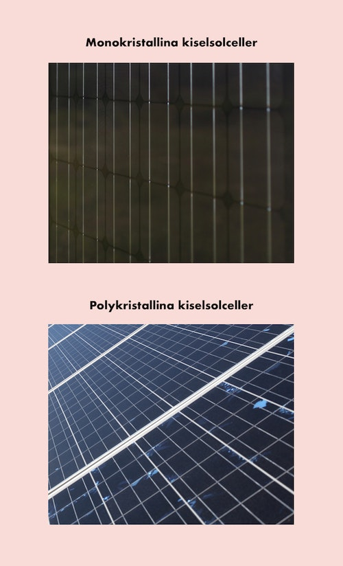 Skillnad mellan monokristallina och polykristallina solceller