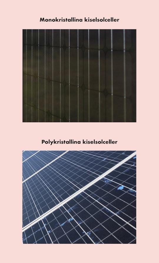 Skillnad mellanmonokristallina och polykristallinasolceller