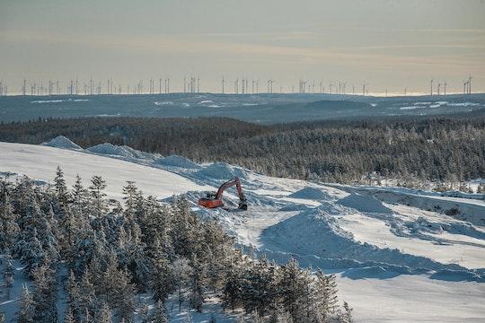 Markbygden där Europas största vindkraftpark håller på att byggas.