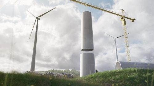 Bild på Modvionsvindkraftstorn