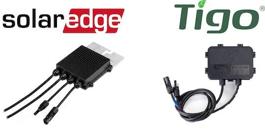 Två vanliga fabrikat på optimerare är SolarEdge och Tigo