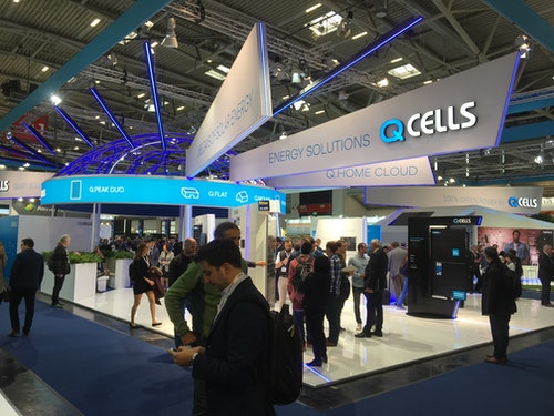 QCells monter på Intersolar