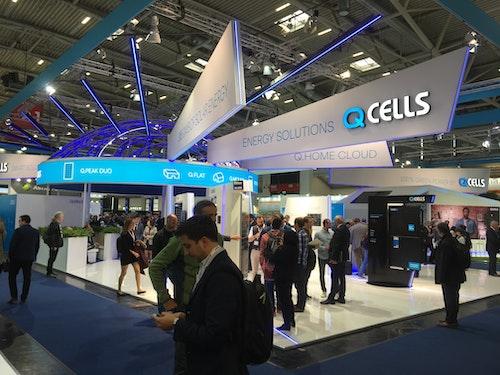 QCells monter på Intersolar
