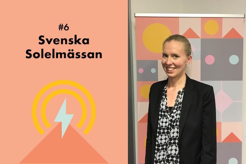 Bild på Ylva Olofsson, Volvo Lastvagnar, från Svenska Solelmässan