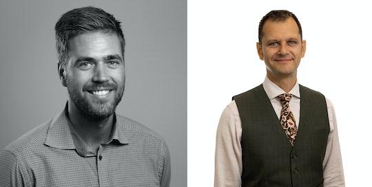 Tim Ljunggren, teknikchef på Senergia, och Samar Nath, försäljningschef på IBC SOLAR
