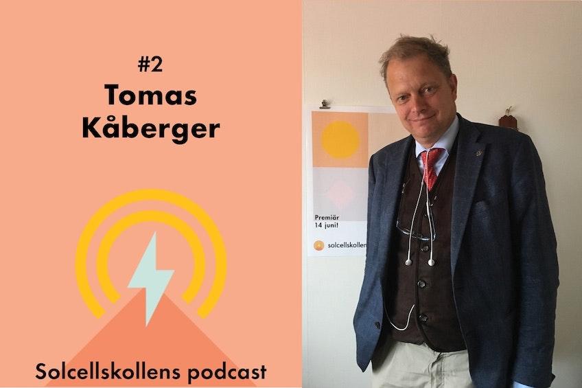 Tomas Kåberger, professor på Chalmers, och den andra gästen i Solcellskollens podcast