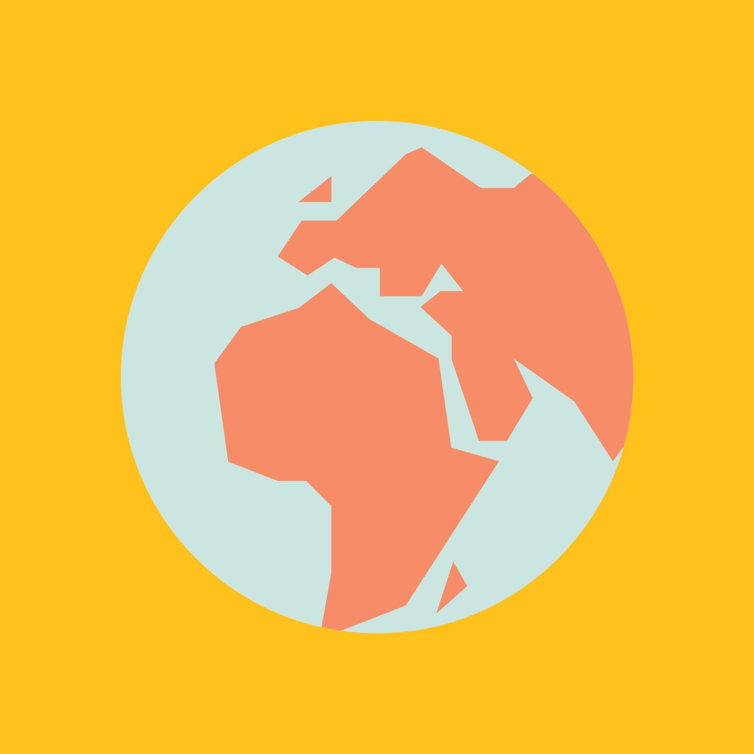 Färgglad illustration av planeten jorden