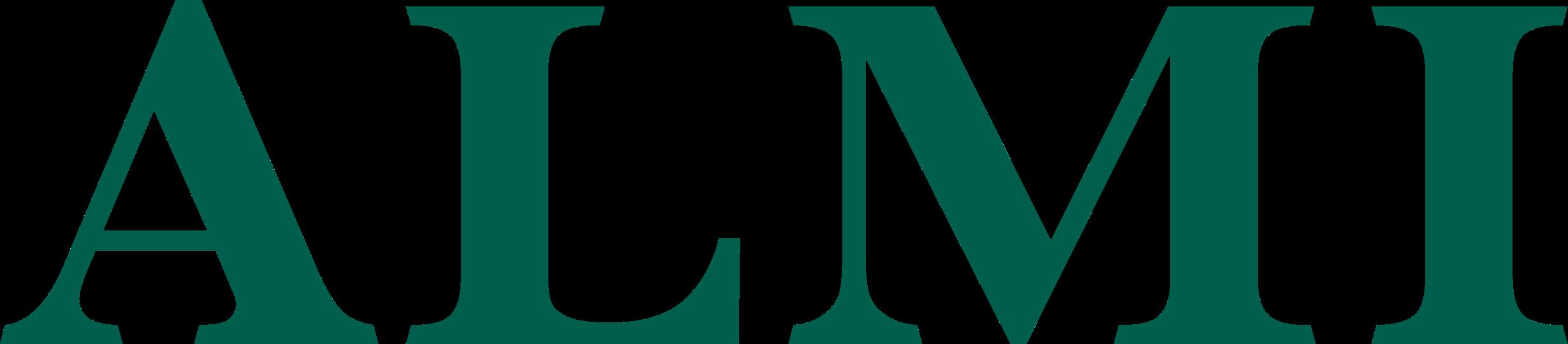 Almis logotyp som länkar till hur solcellskollen vann ett pris för hållbara idéer