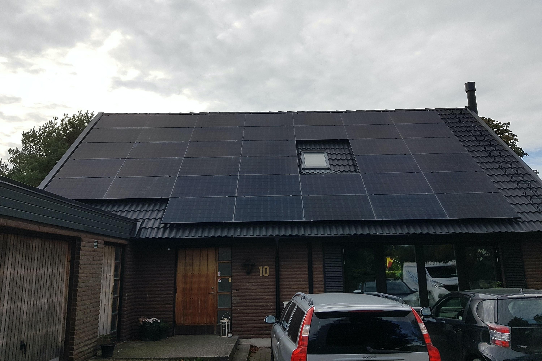 Bild på solceller i Burlöv