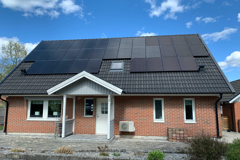 Bild på solceller i Ludvigsborg