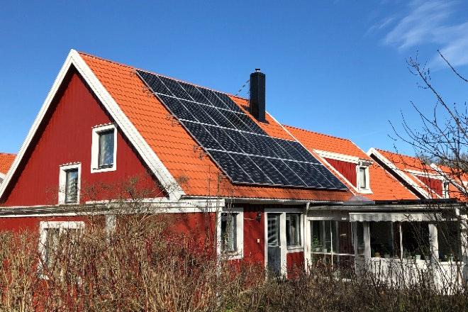 Bild på solceller i Linköping