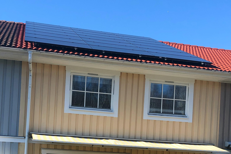 Bild på solceller i Västra Frölunda