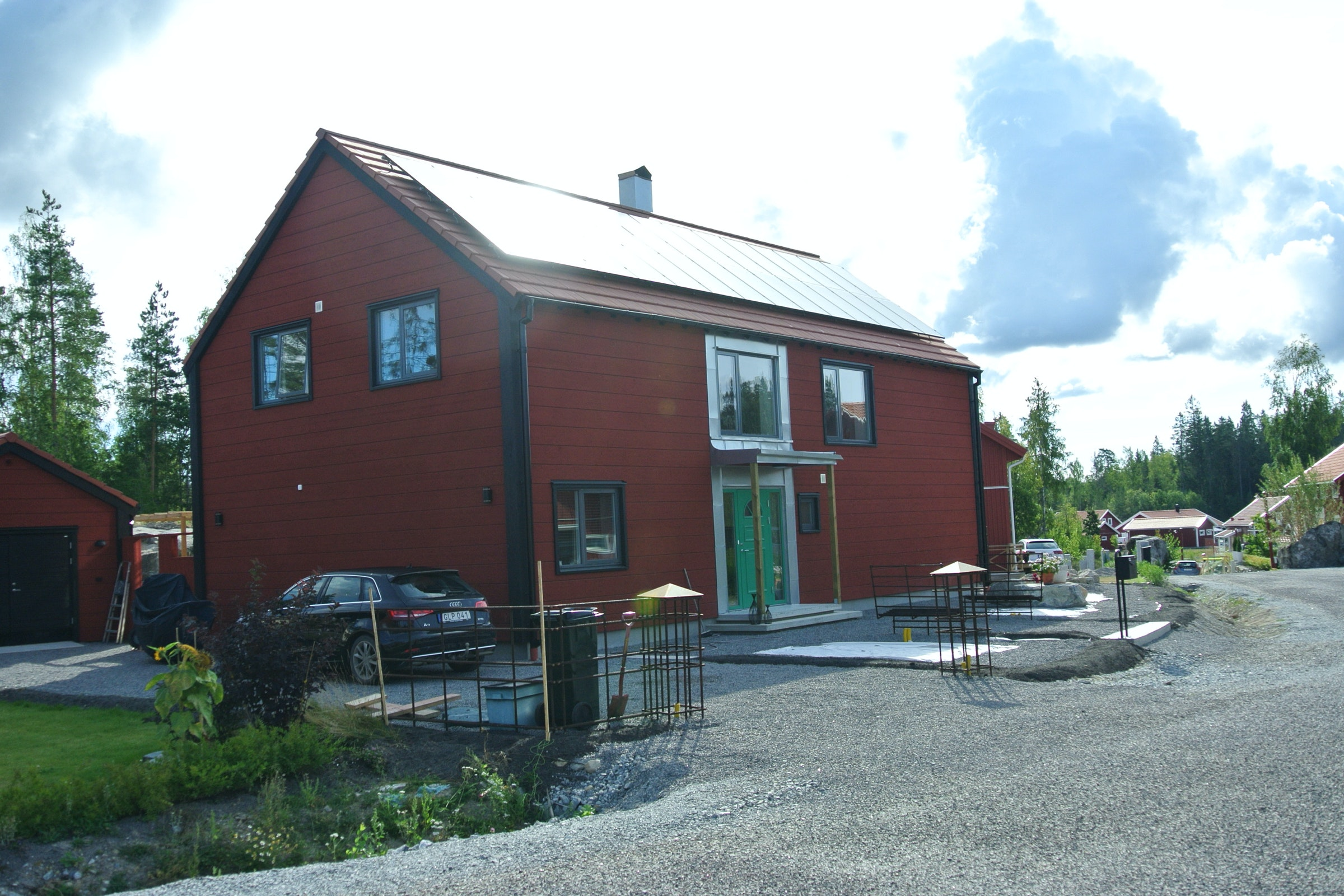 Bild på solceller i Nykvarn