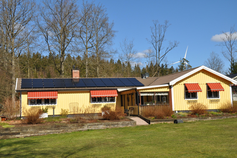 Bild på solceller i Hishult