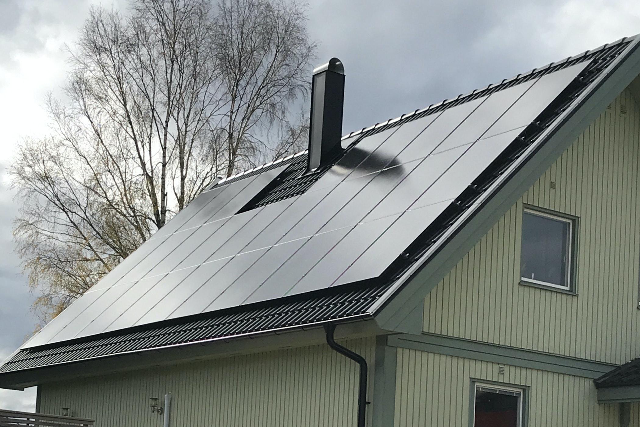 Bild på solceller i Uddevalla