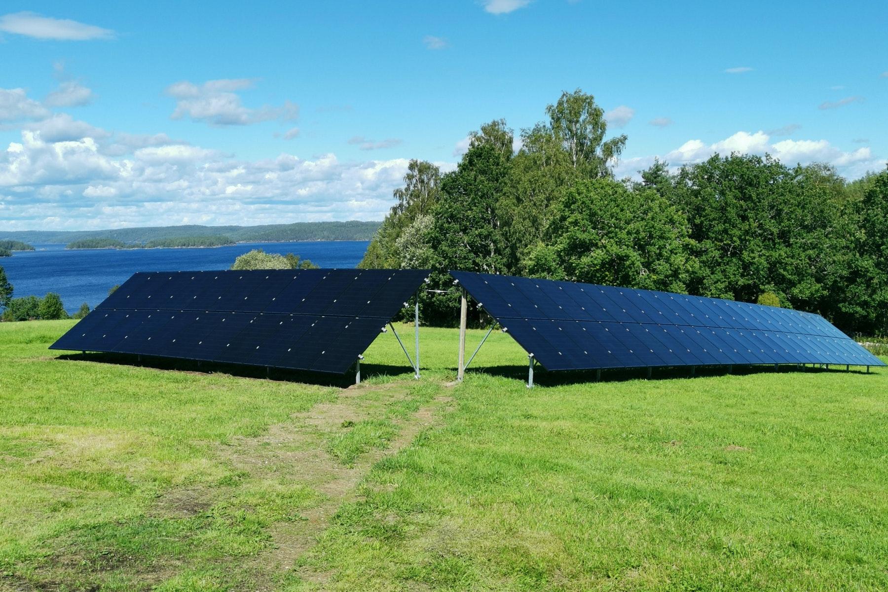 Bild på solceller