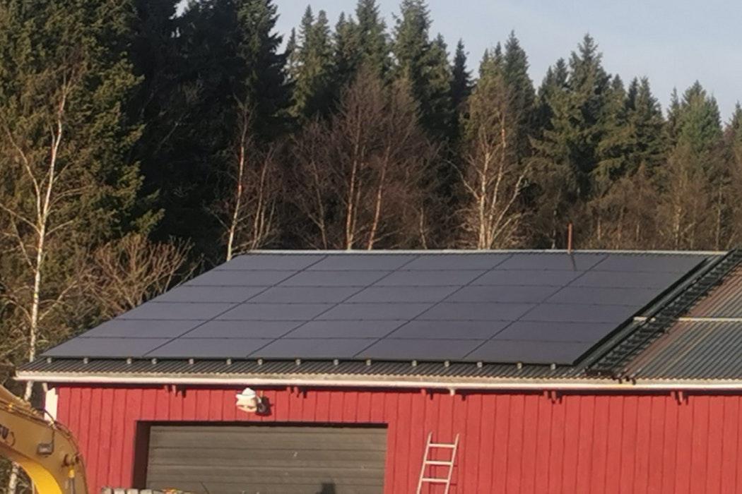 Bild på solceller i Järpen