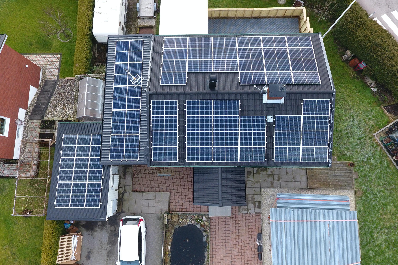 Bild på solceller i Surte