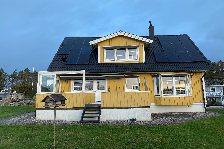Bild på solceller i Särö
