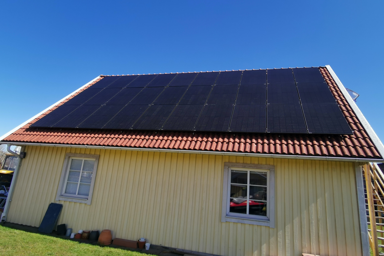 Bild på solceller i Tibro