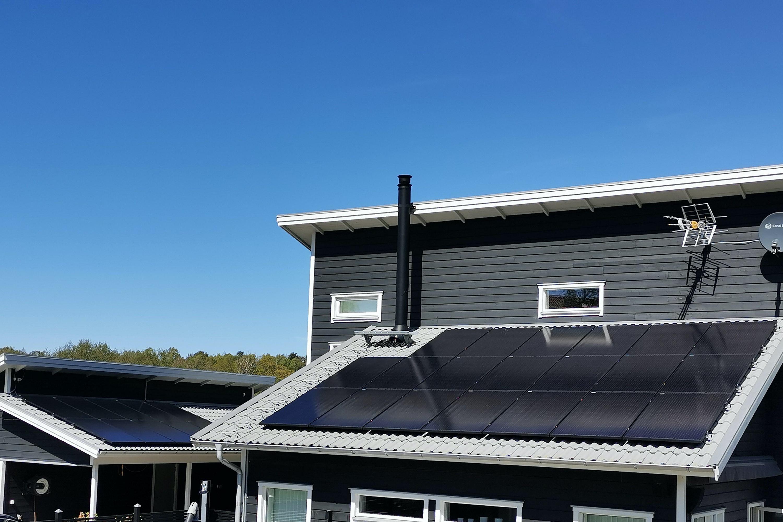 Bild på solceller i Stenungsund