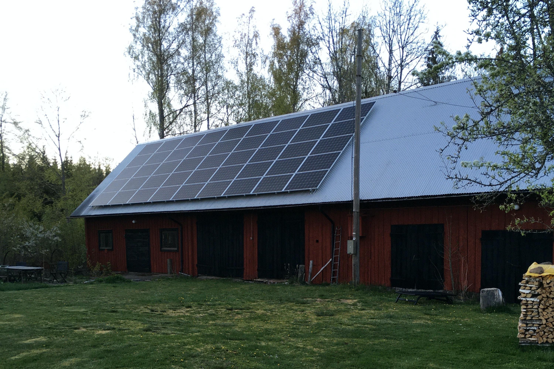 Bild på solceller i Moheda