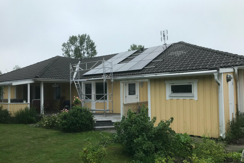 Bild på solceller i Västerås