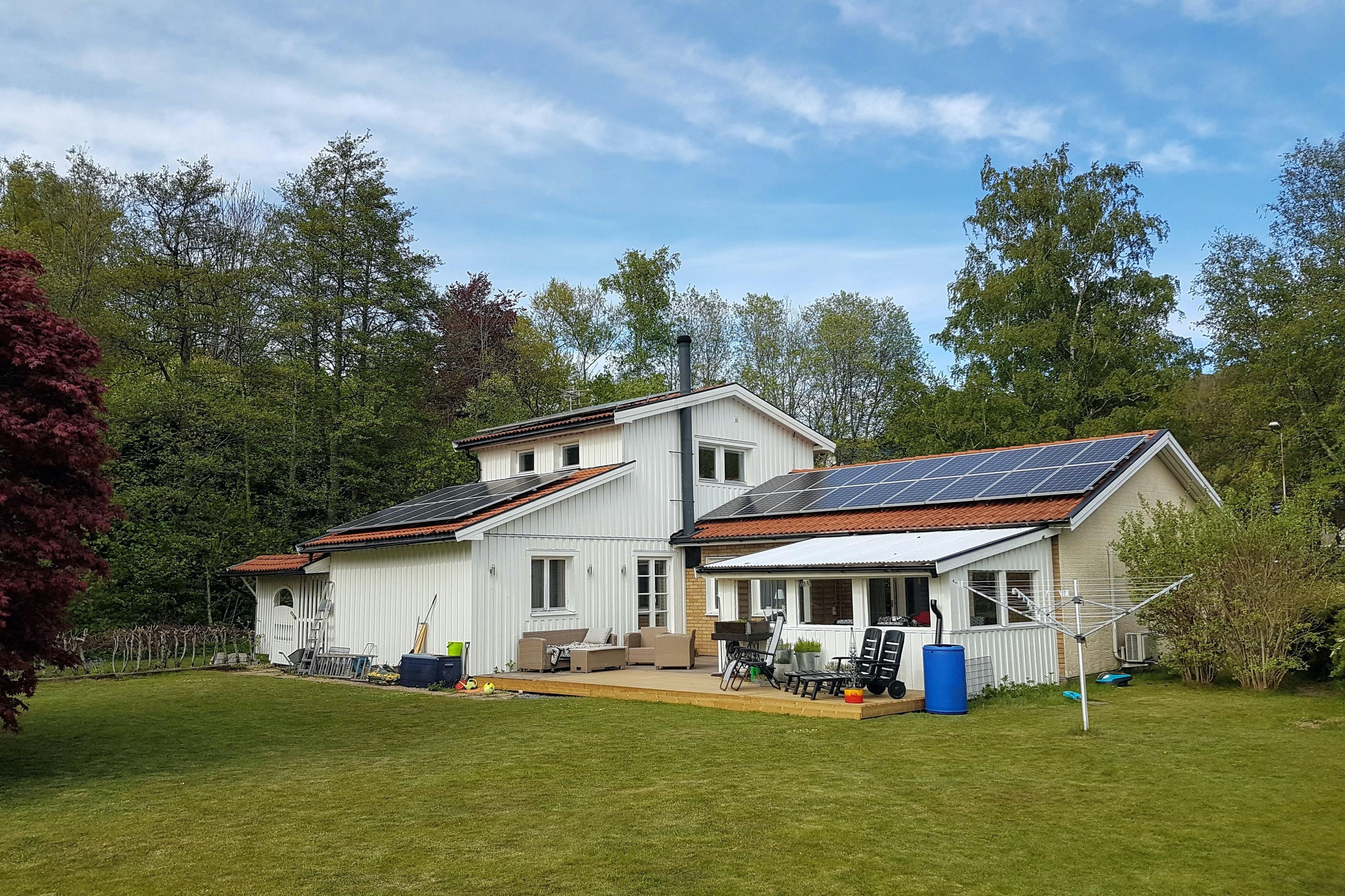 Bild på solceller i Vargön