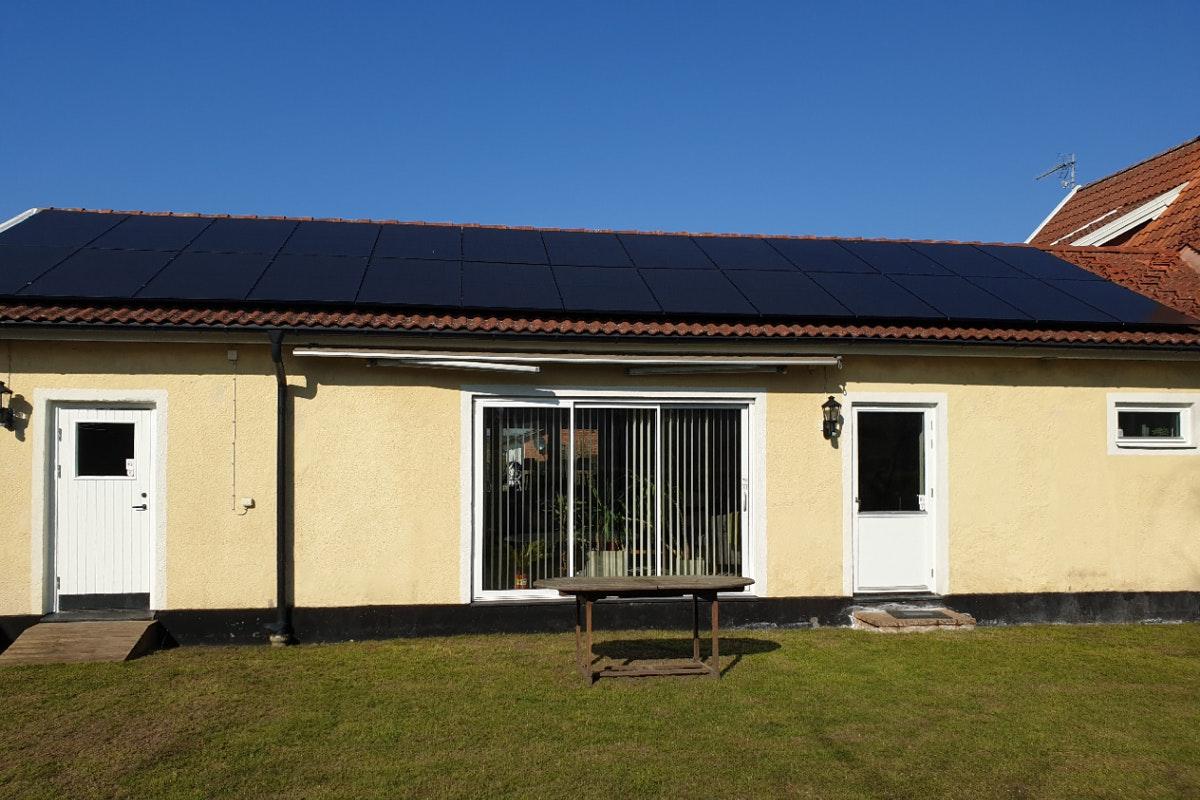 Bild på solceller i Sjöbo