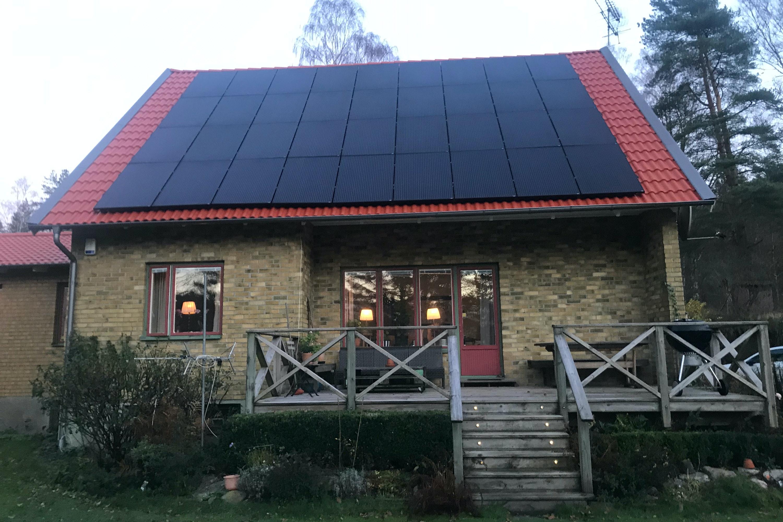 Bild på solceller i Lindome