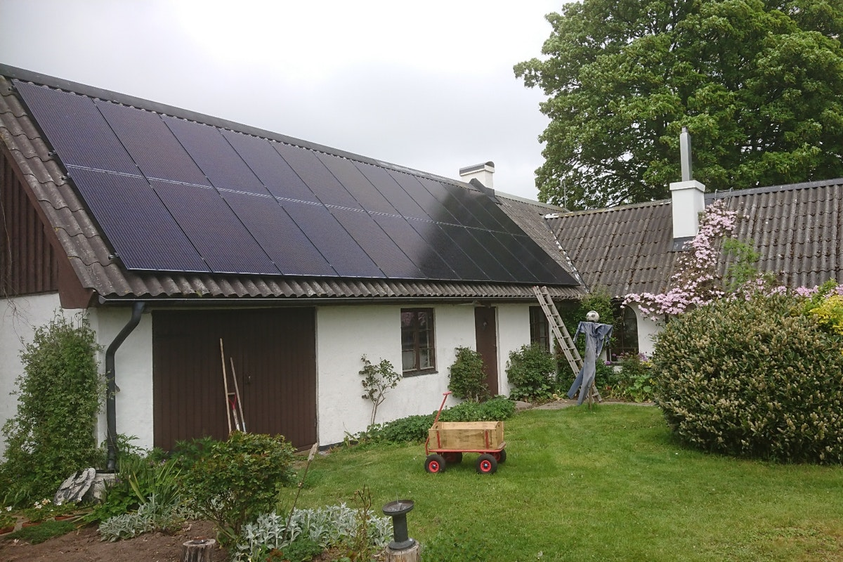 Bild på solceller i Anderslöv