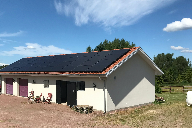 Bild på solceller i Arkelstorp