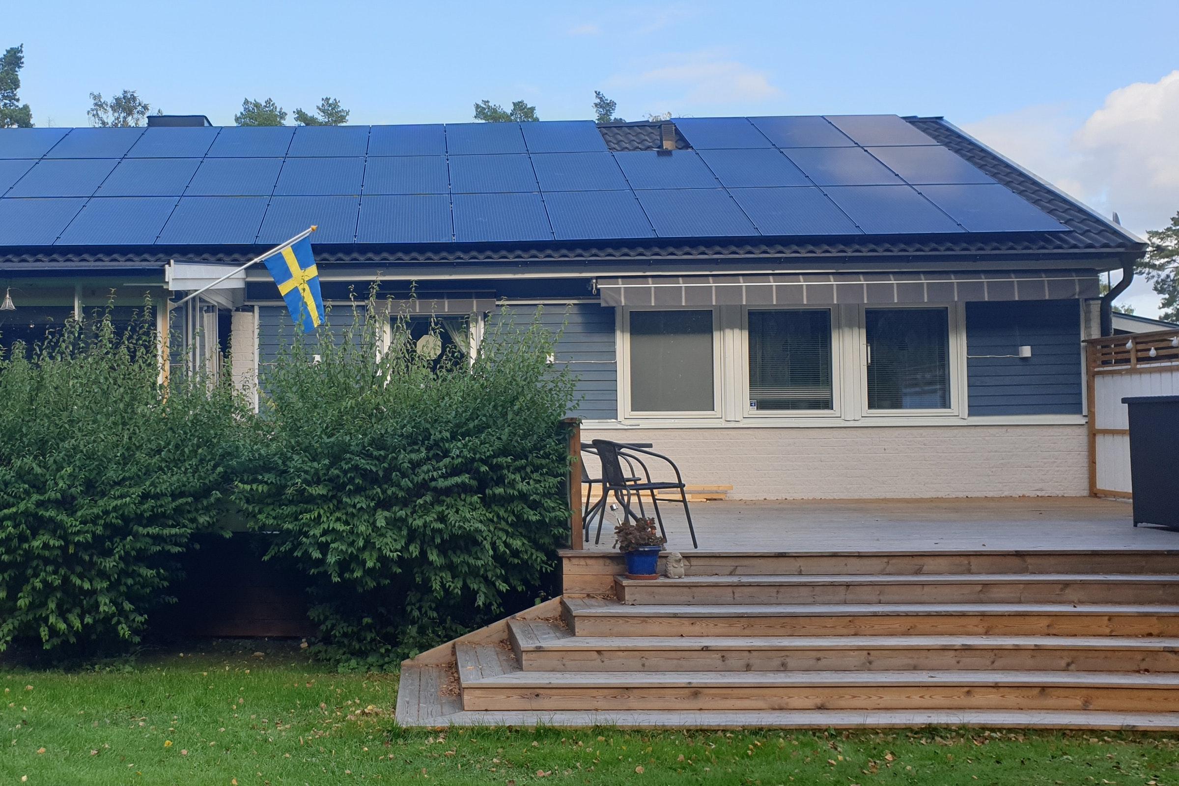 Bild på solceller i Bålsta