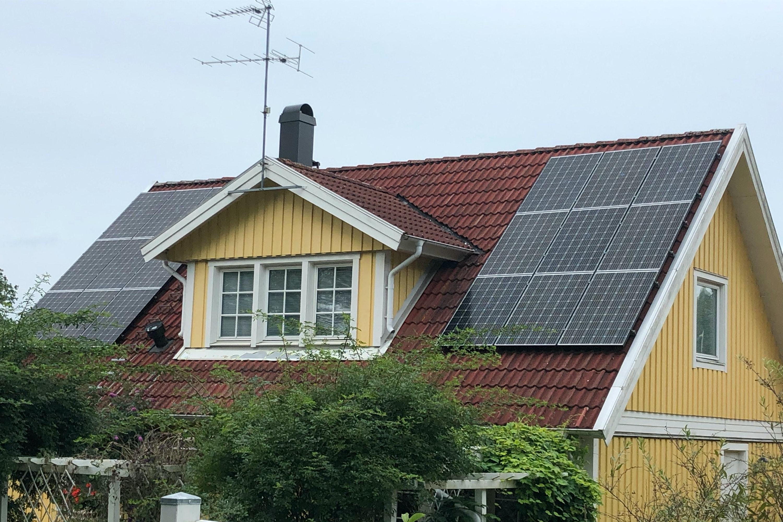 Bild på solceller i Bestorp