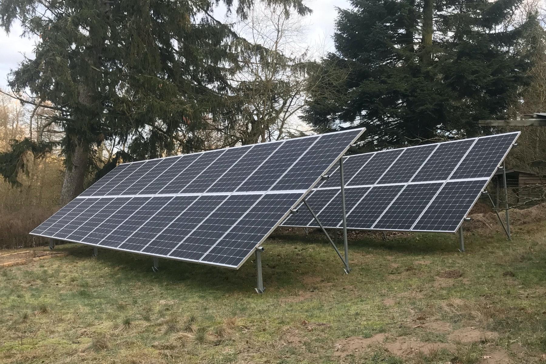 Bild på solceller i Blentarp