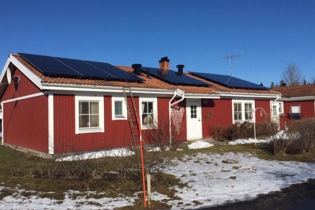 Bild på solceller i Bollnäs