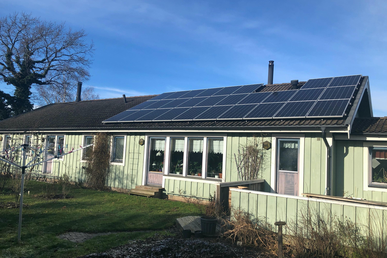 Bild på solceller i Borgholm