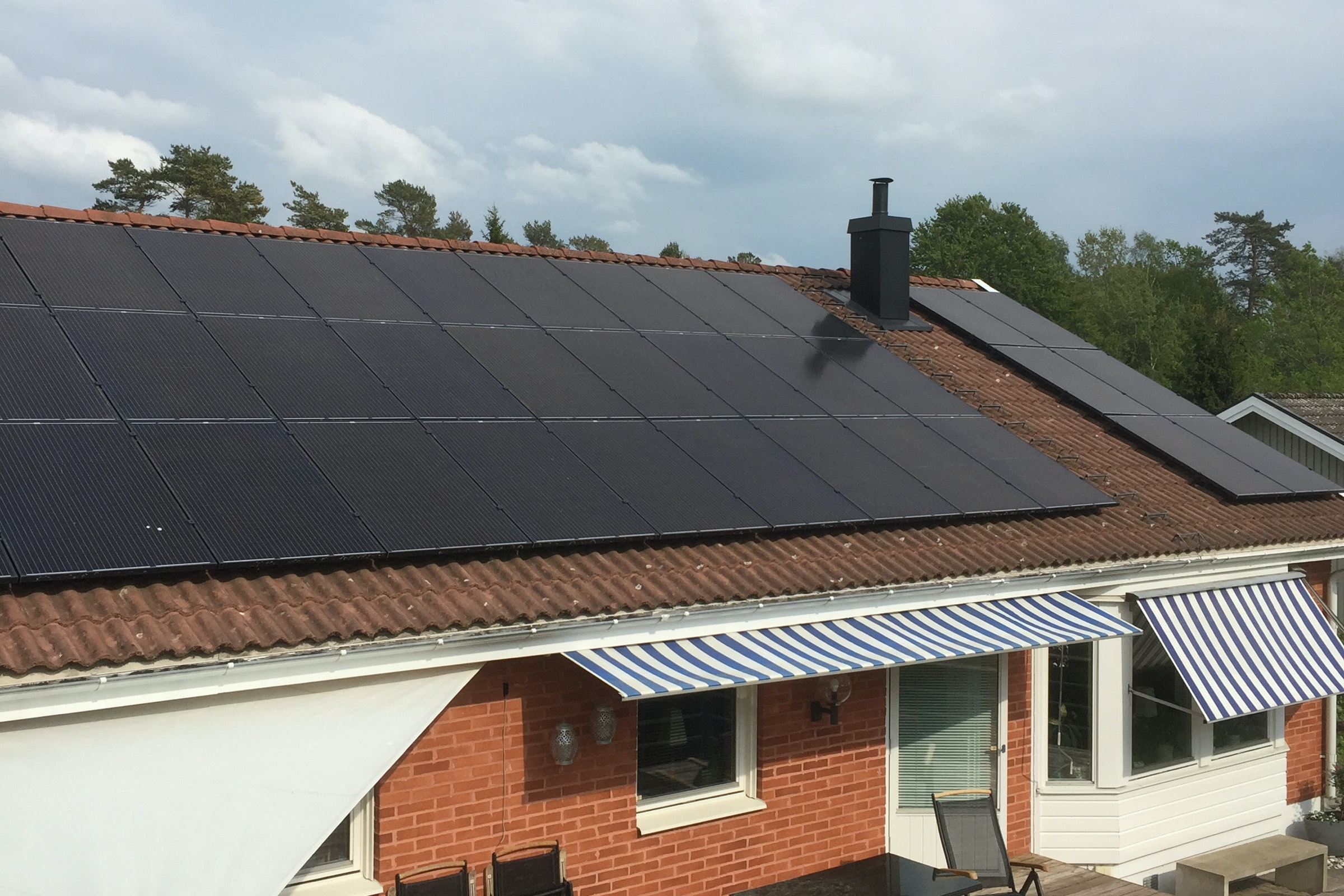 Bild på solceller i Dalsjöfors