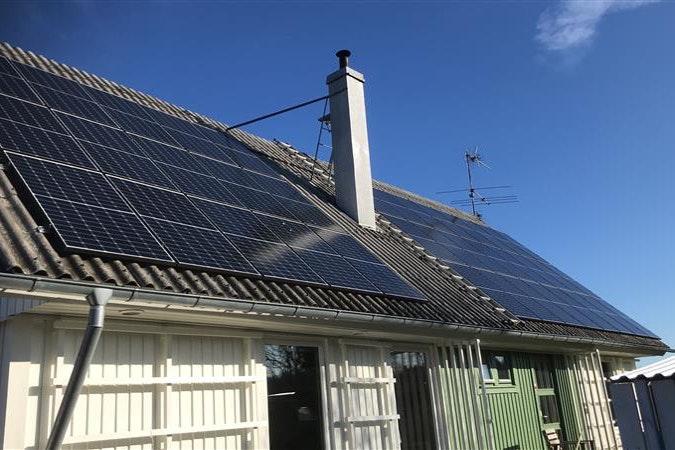 Bild på solceller i Ekerö