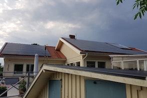 Villa med solceller i Göteborg
