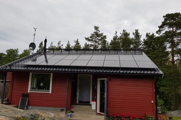 Bild på solceller i Herräng