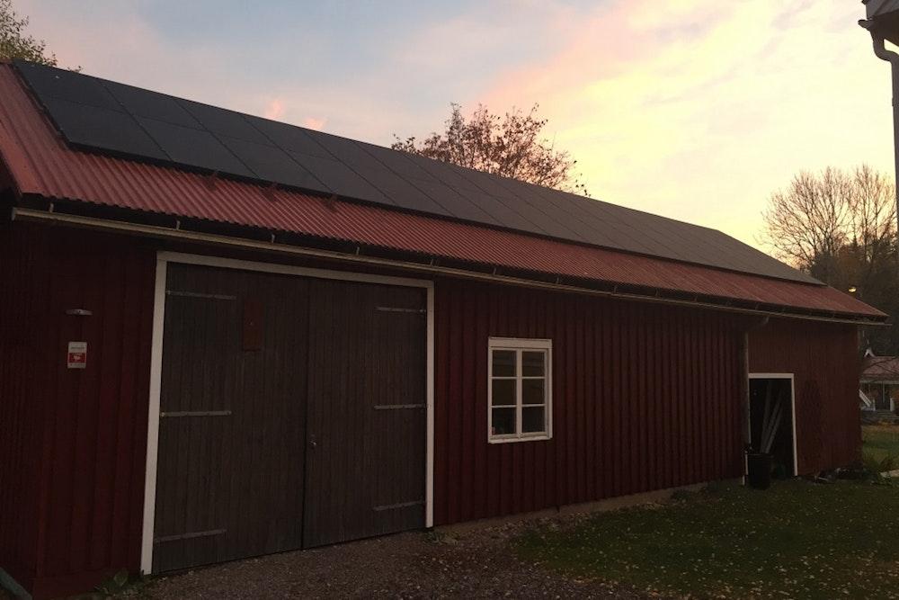Bild på solceller i Sandviken