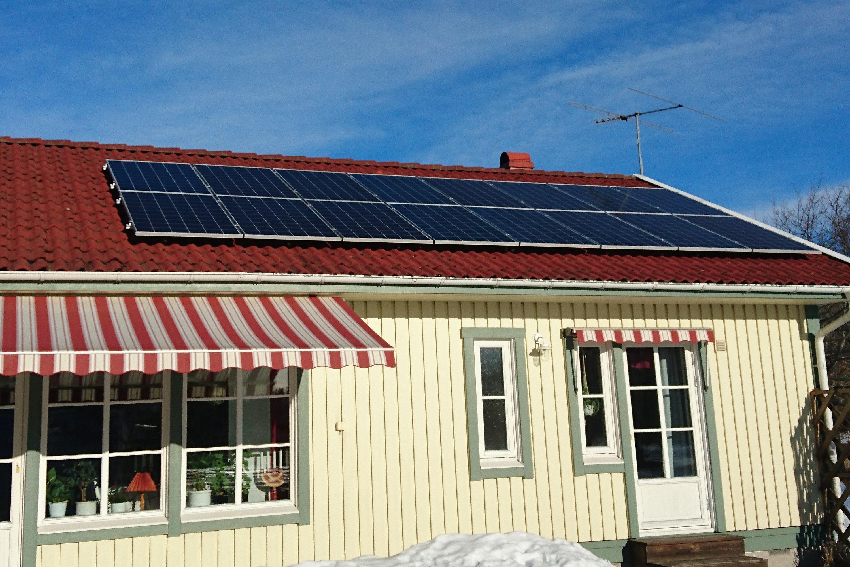 Bild på solceller i Örebro