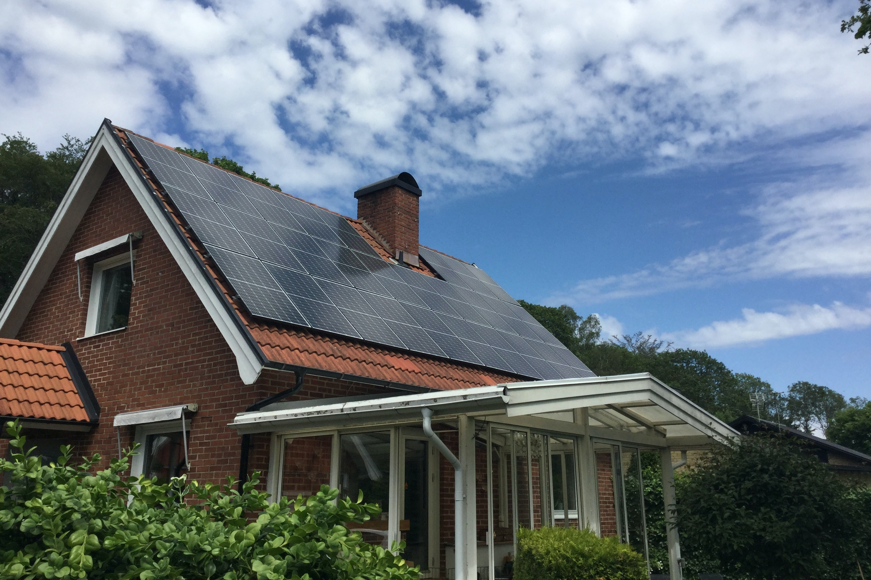 Bild på solceller i Halmstad